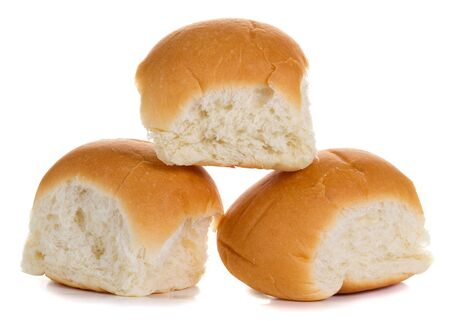 Three buns isolated on white background photo