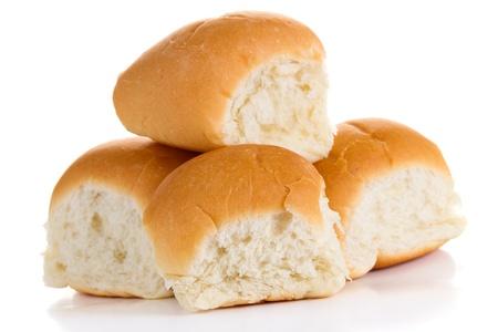 Four buns isolated on white background Stock Photo - 18763162