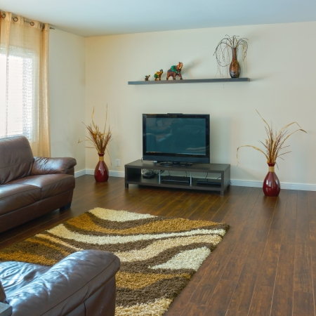 Interior design in a new house Stockfoto