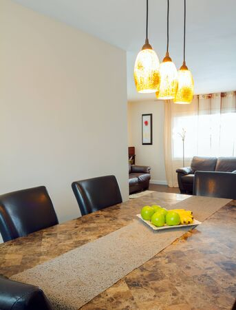 Inter design of dining room in a new house Stock Photo - 19091501