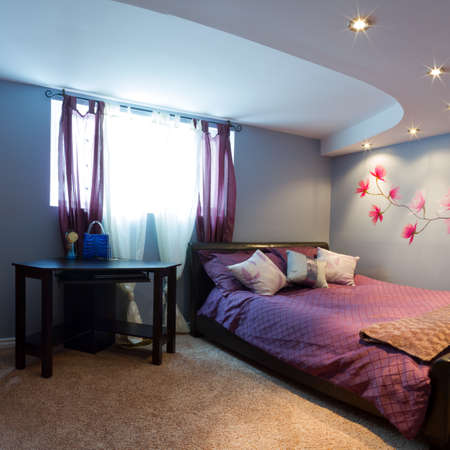 Bedroom with furnishing in a new house. Stock Photo - 19091519