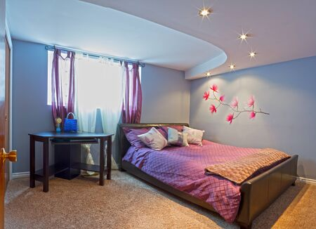 Bedroom with furnishing in a new house. Stock Photo - 19091530