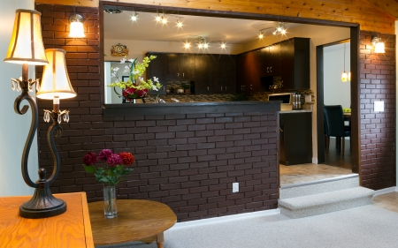 Basement and kitchen Interior design  photo