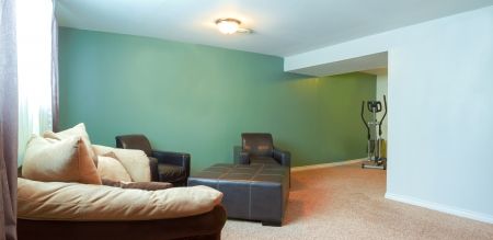 Basement Interior design in a new house photo
