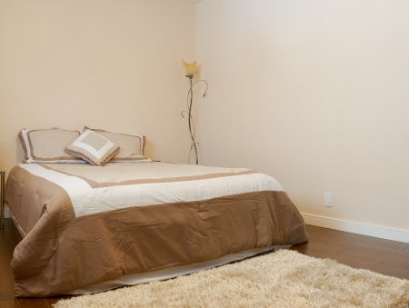 Bedroom interior design  in a new house. photo