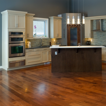 Interior design of modern kitchen Banco de Imagens