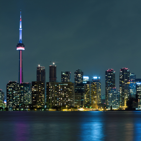 Toronto Downtown Skyline at night photo