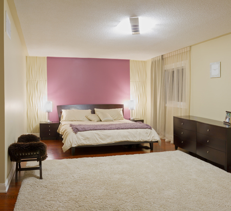 Bedroom modern interior design with furnishings Stockfoto