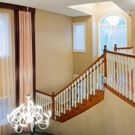 Hallway interior design in a new house  photo