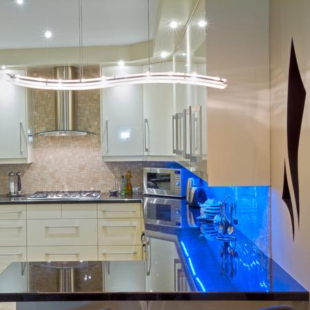 decor: Interior design of modern kitchen  in a new house