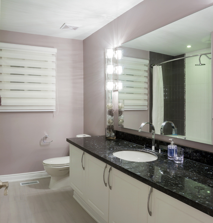 ambry: Interior design of a bathroom  in new house
