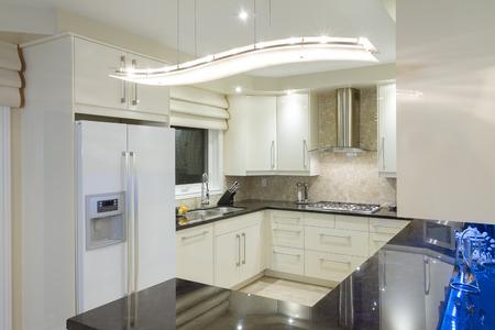 Interior design of modern kitchen Stock Photo
