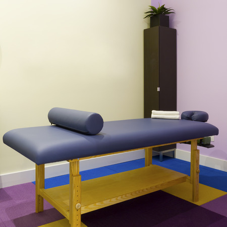 Interior  of massage room in a clinic center
