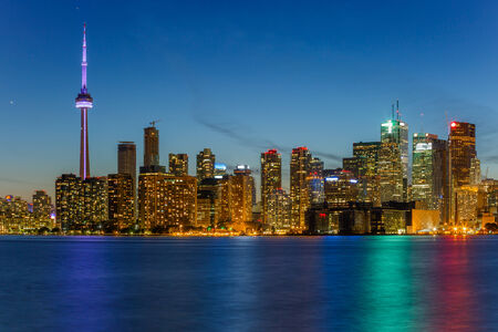 Toronto Downtown Skyline at night