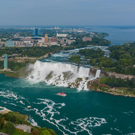 niagara falls city: Niagara Falls view from Skylon Tower. Canada.