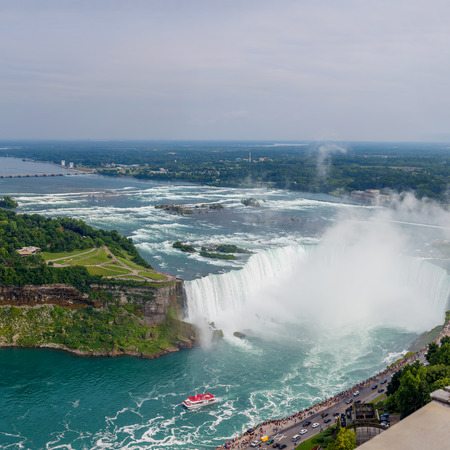niagara falls city: Niagara Falls view from Skylon Tower  Canada