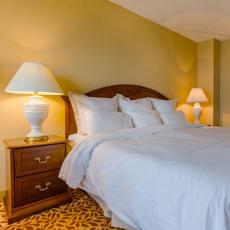bed sheet: Bedroom modern interior Editorial