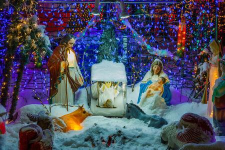 holiday lights display: Christmas lights display Stock Photo