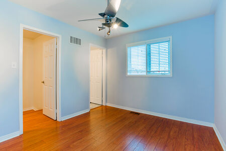 empty bedroom in a new apartment stock photo, picture and royalty