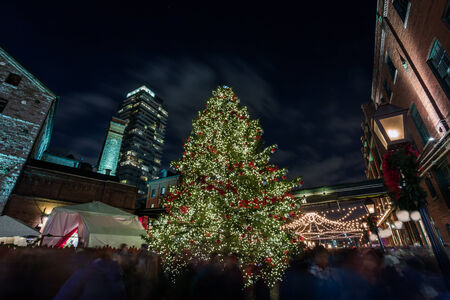 Christmas celebration in downtown photo