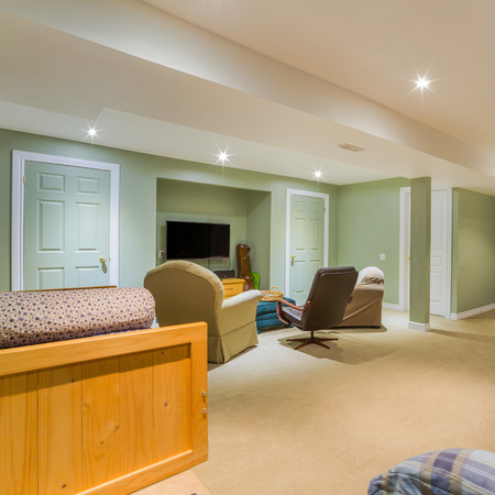 basement: Basement Interior design in a new house