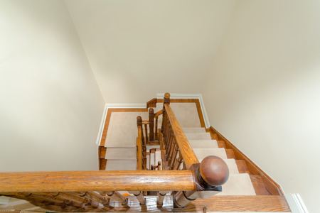 Wooden staircase interior