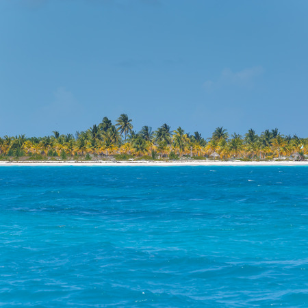 Caribbean sea and lonely island Banco de Imagens