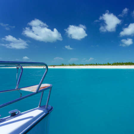 Caribbean sea travel on catamaran