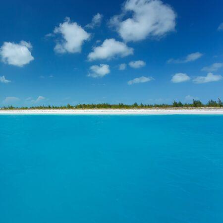 caribbean island: Caribbean sea and lonely island Stock Photo