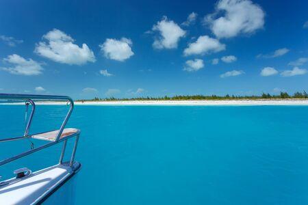 Caribbean sea travel on catamaran