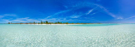 Tropical beach in Cayo Largo Paraiso beach. Cuba Stock Photo