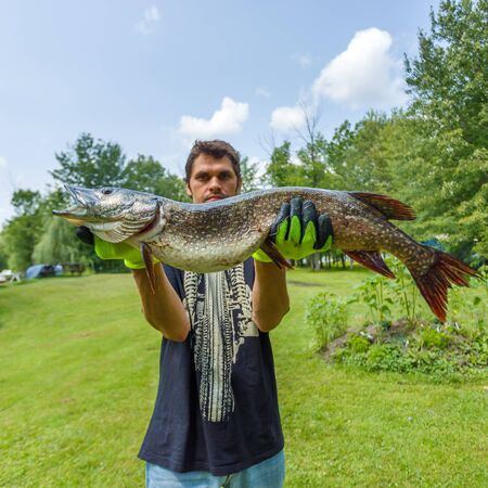 freshwater: Fisherman caught a big pike and boasts