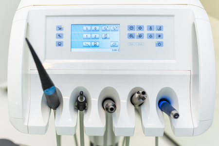 medical cabinet: Medical equipment. Dental clinic equipment in cabinet
