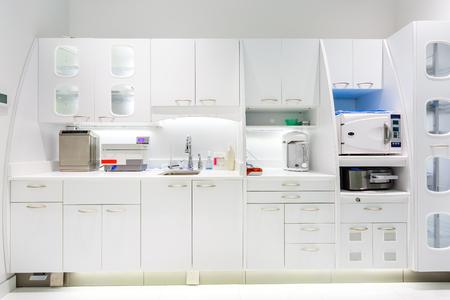 歯科医院の歯科補綴研究所インテリア 写真素材