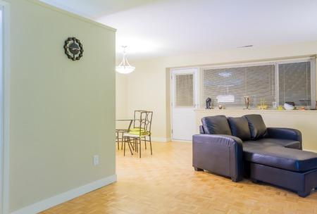 showcase interiors: Interior design of Living room in a new apartment Stock Photo