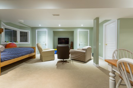 Basement Interior design in a new house