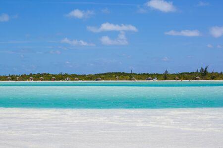 paradise beach: Tropical beach in Cayo Largo Paraiso beach. Cuba Stock Photo
