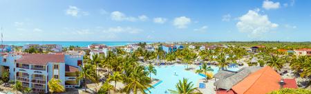 panoramic view: Panoramic View on hotel and swimming pool, Cayo Largo. Cuba