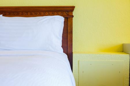 furnishings: Bedroom modern design with furnishings in hotel