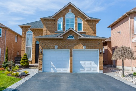 suburb: Custom built luxury house in the suburbs of Toronto, Canada. Stock Photo