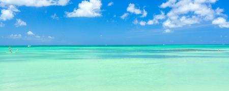 Aruba eiland. Uitzicht vanaf het strand