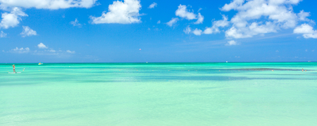 Aruba island. View from the beach Stock Photo