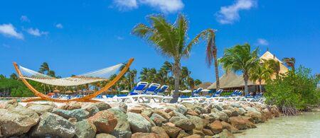 aruba: Flamingo beach at Aruba island