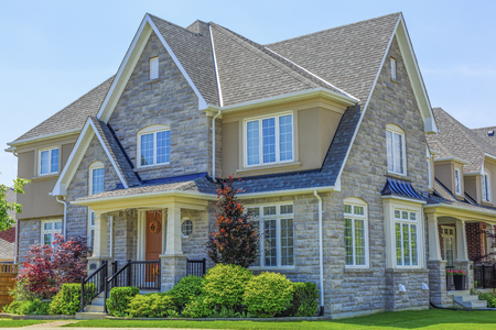 Custom built luxury house in the suburbs of Toronto, Canada. Stock Photo