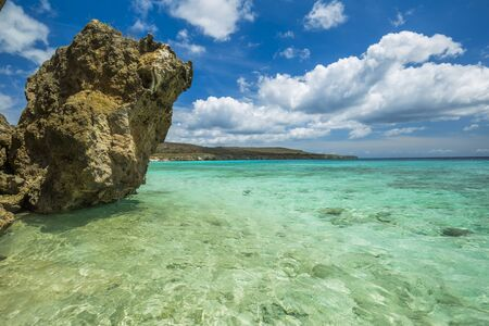 Grote Knip beach, Curasao Tropical beach Banco de Imagens