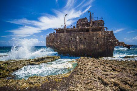Shipwreck klein curacao at sea