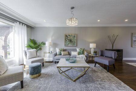 Living Room Interior Design Stok Fotoğraf
