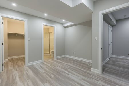 Beautiful empty room after repair in basement