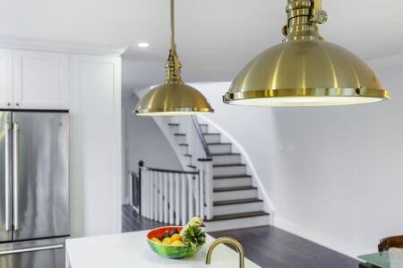 Modern kitchen clean interior design