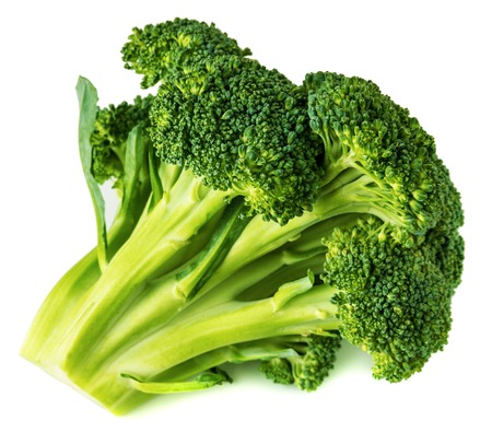 thorough: Broccoli close-up isolated on white background a thorough review